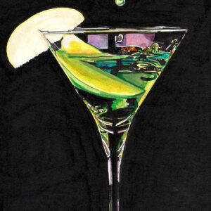 Martini Glass Beach Towel by Neal Portnoy