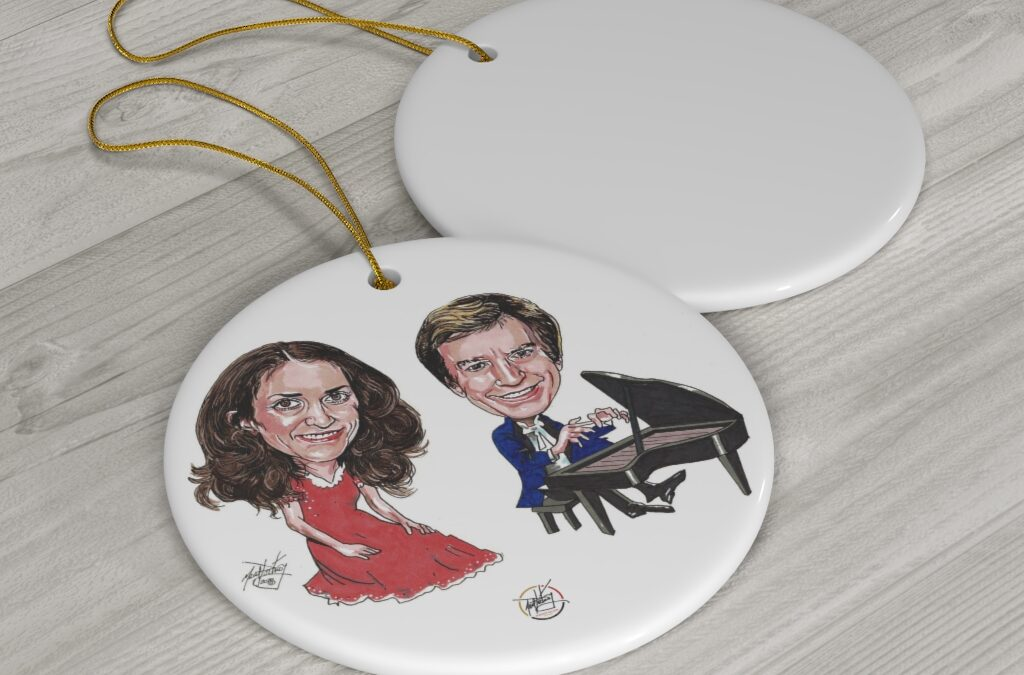 Sally Olson & Ned Mills – Round Ceramic Ornaments